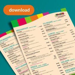 Download the dine-in pdf menu